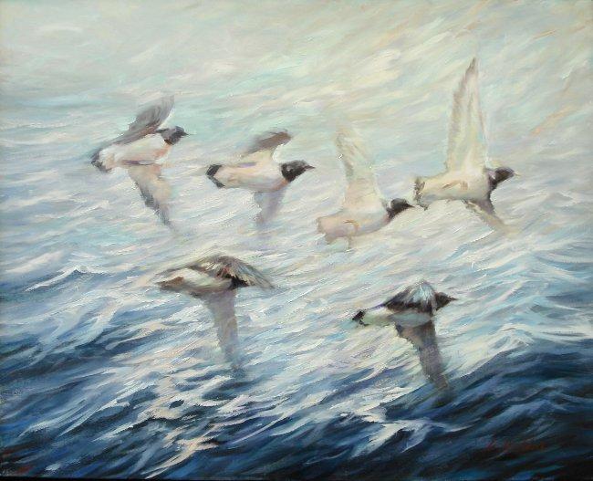 Vögel in Bewegung
